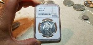 1889 CC Morgan Silver Dollar NGC MS 62 PL- Proof Like