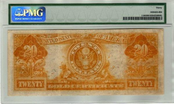 "Fr.1180 $20 1905 ""Technicolor"" Gold Certificate PMG Very Fine 30"