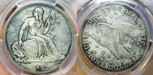 1836 $1 Gobrecht Dollar Original Coin Alignment PCGS PR Genuine UNC Details -