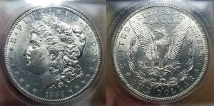 1884 S $1 Morgan Silver Dollar ICG MS 62+ Rare in BU !!