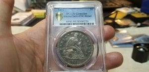 1852 Seated Liberty Dollar $1 PCGS Genuine UNC Details Altered Surface