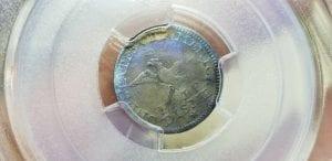 1792 Half Disme H10c PCGS Genuine Damage Fine Details