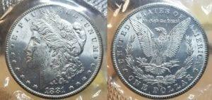 $1 1881 CC Morgan Silver Dollar GSA Soft Pack NGC MS 63