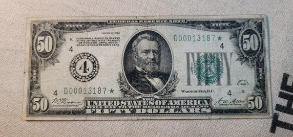Fr.2100-D* $50 1928 Cleveland STAR Choice Fine